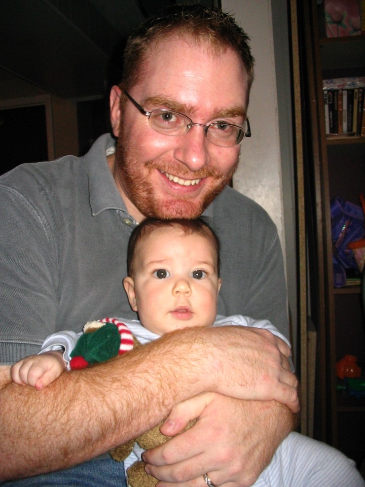 Cooper and Daddy, Christmas 2005