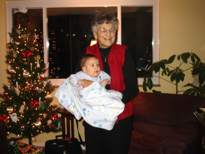 Cooper and Great Grandma Hall 2005