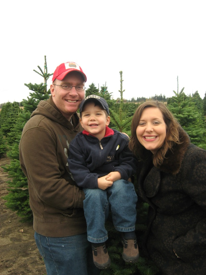 The Nevil Family at Hunter's Christmas Tree Farm