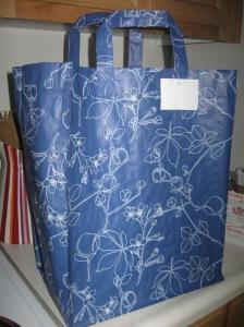 Sassy and huge Ikea shopping bag!