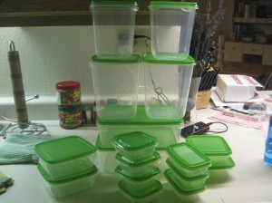 That's a lot of storage containers for $5!!