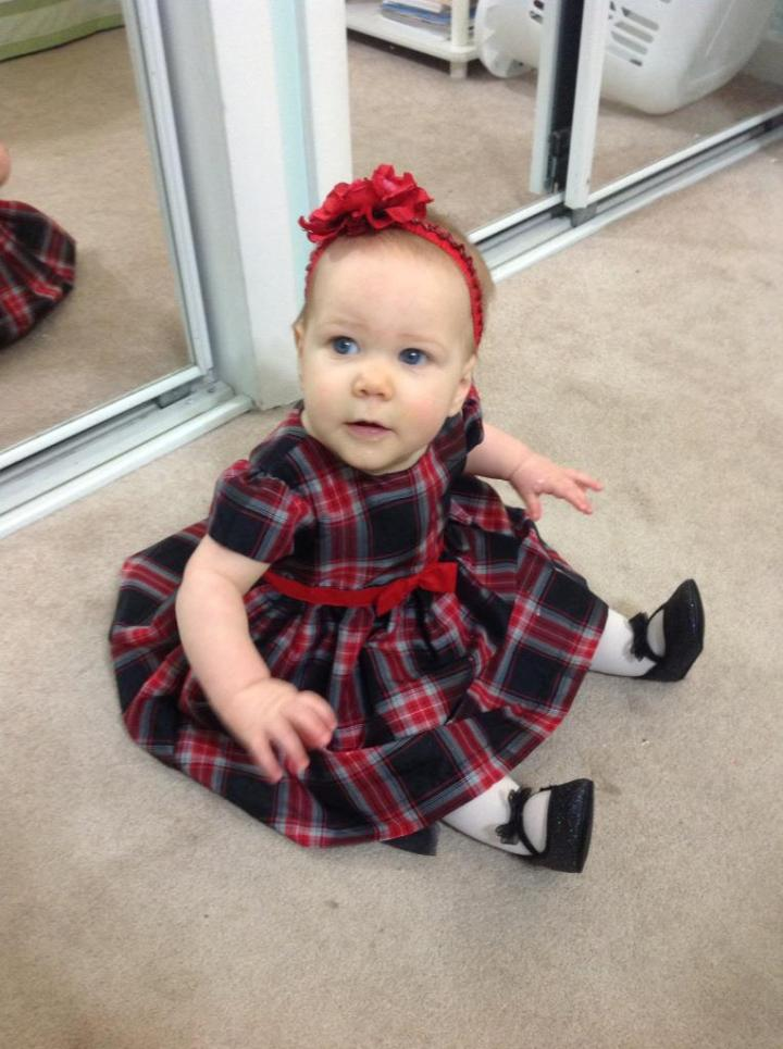 My sweet girl Cecelia in her Christmas dress! AH! She melts me...