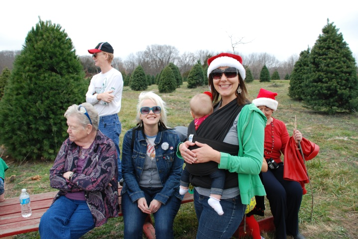 Me, Cecelia, My Sister Jessica and My Grammie fetching Christmas Trees!