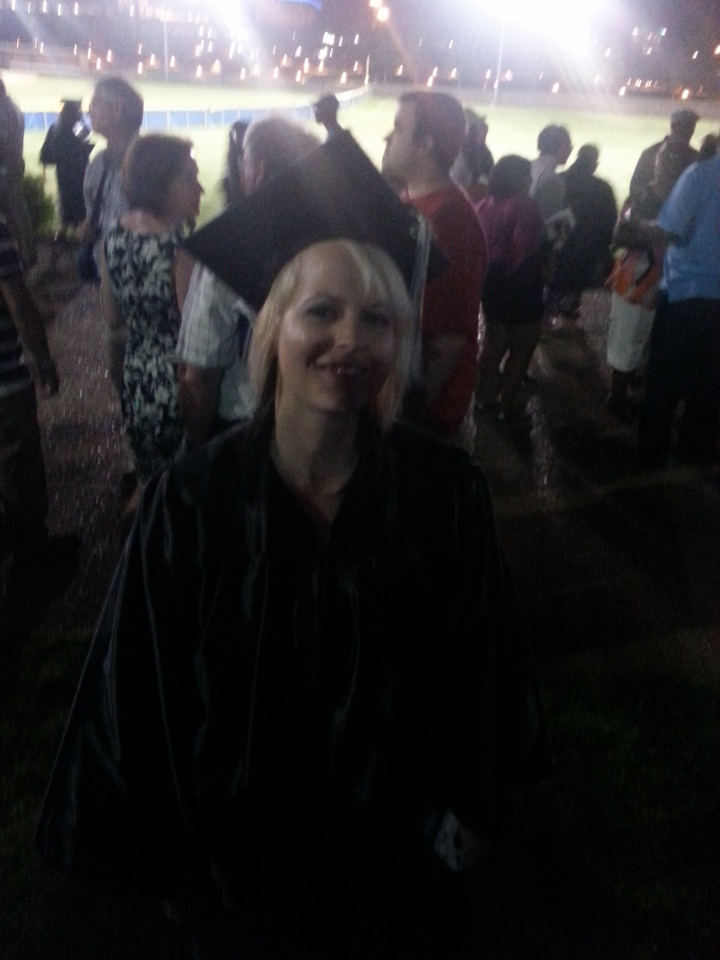 Here is my sis on the night of her graduation in May! I'm so proud of you Jessie!