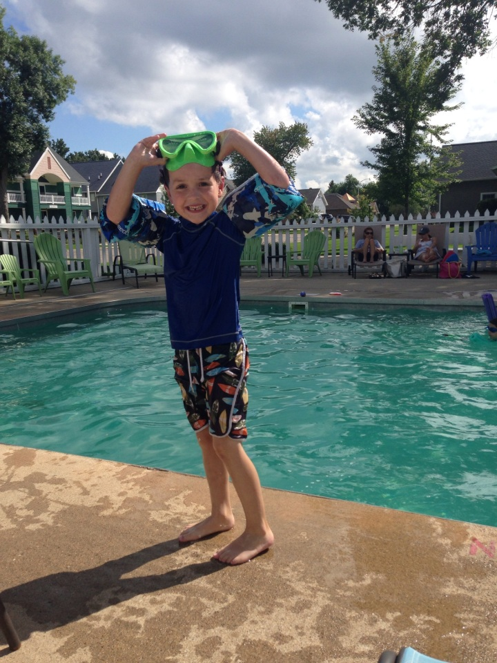 My favorite middle kid last summer at the pool.