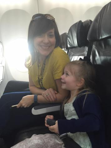 Cece and Mom airplane